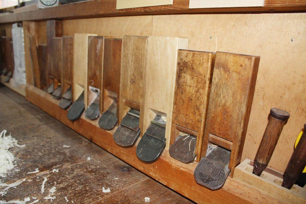 箱根寄木細工 本間木工所(寄木工房ー匠の道具類)