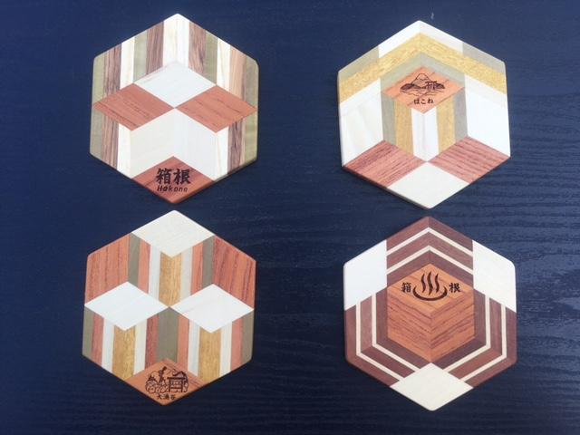 寄木体験教室 特別企画 焼き印パーツを入れ