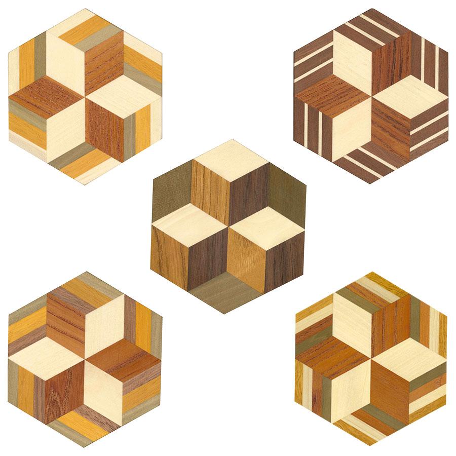 箱根寄木細工工房体験教室ムクコースター